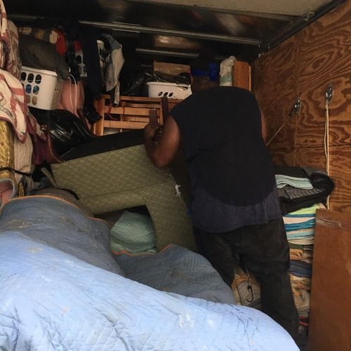 Loading a 2 bedroom apartment