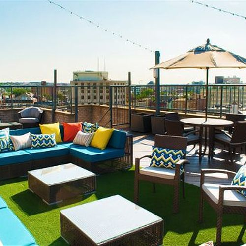 Cheerful Roof-top Patio