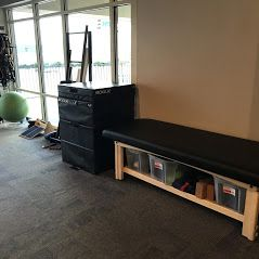 Boxes and stretch/therapy table
