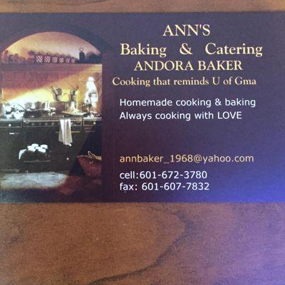 Avatar for Ann's Baking & Catering Madison, MS Thumbtack
