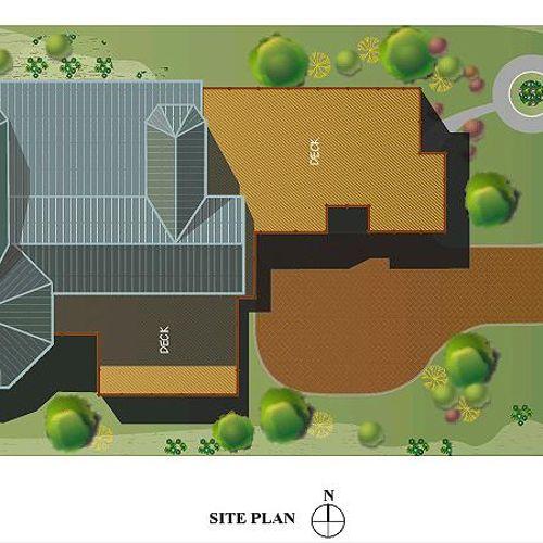 Site Plan of new contemporary single family home in Morton Grove