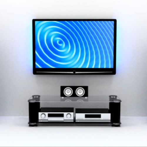 Custom designed, professionally installed home theater and sound.