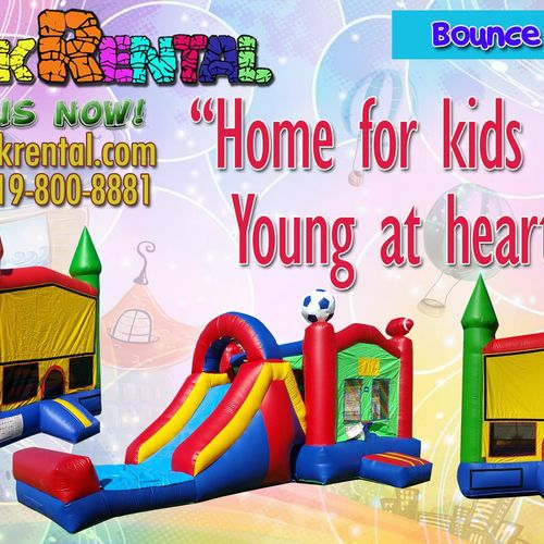 Want to entertain your guests?! Rent our Bounce Houses!