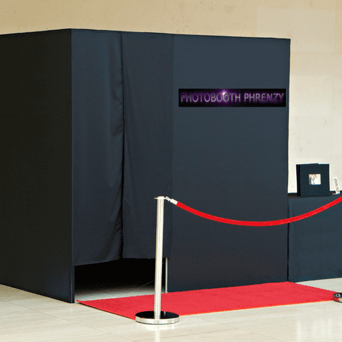 We offer two different booth sizes, regular and large.