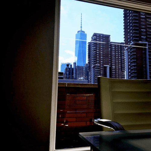 The view from our office on Greenwich St. & Beach St. in Trbeca, NYC.