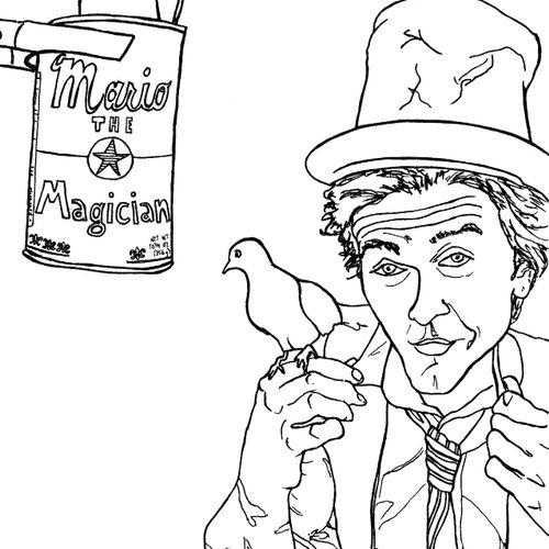 Mario the Magician Coloring Book Illustrations