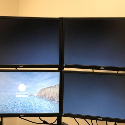 Four Screen setup