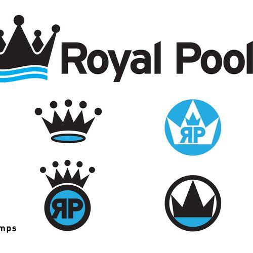 Royal Pools Logo & Comps