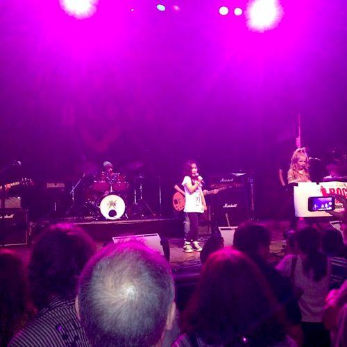 Student Lucia - Rock Star Program performance