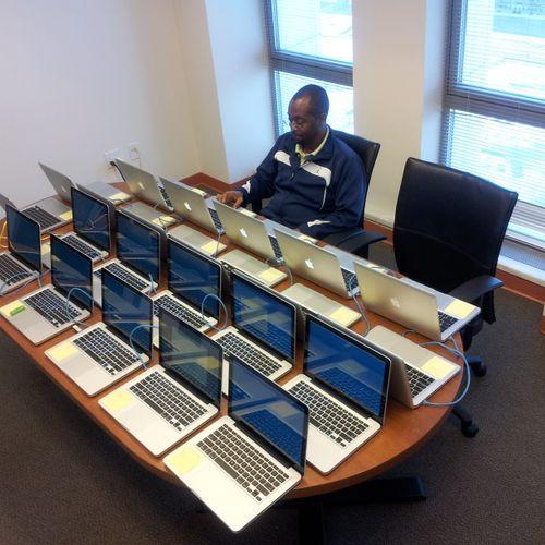 """Cloning"" MacBook Pro fleet (April 2013)."