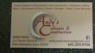 Avatar for Andy's Cabinets and Construction New Hampton, IA Thumbtack