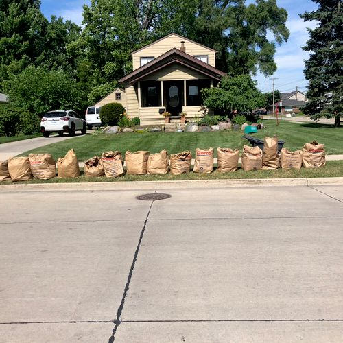Just a few bags of weeds that we pulled!