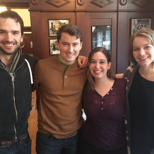 Former UVA students visiting Tenor Mark Watson Williams in Passau, Germany where he is a member of the Landestheater Niederbayern