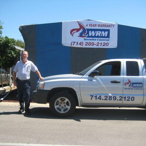 Owner, Robert Becker at a Fumigation Job in Anaheim, CA.