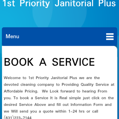 Avatar for 1st Priority Janitorial Plus Services Pacific Grove, CA Thumbtack
