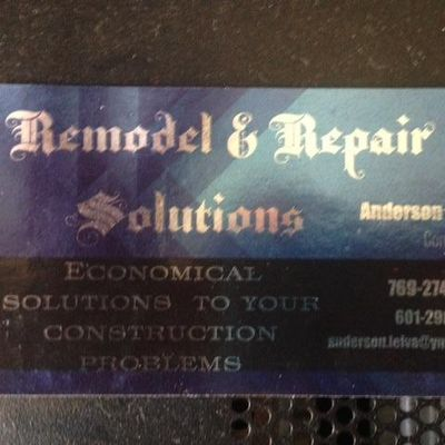 Avatar for Remodel & Repair Solutiions Pulaski, MS Thumbtack