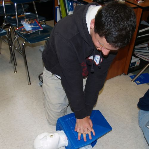 One of our many CPR classes.
