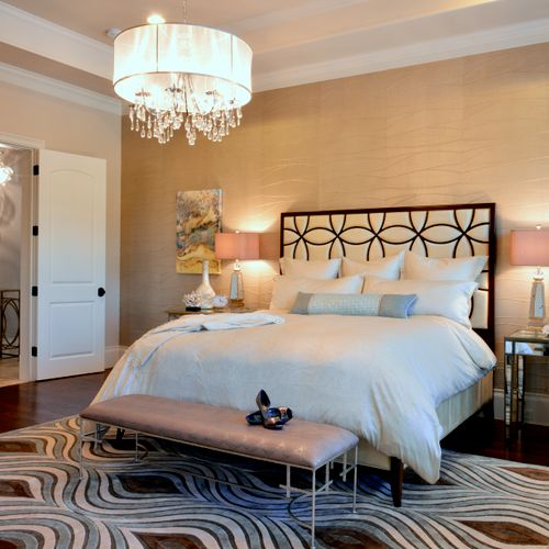 Chic Transitional Master Retreat - 2014 Master Bedroom Winner in Texas