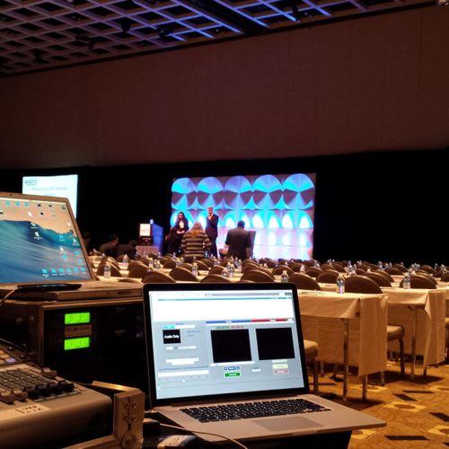 Providing Full Audio Visual and Lighting system for a corporate event at Borgata Hotel - Atlantic City - NJ