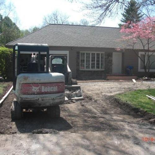 Most Recent Work-2800 Block of W. 86th st,Leawood,KS- Excavated Old Asphalt Driveway.