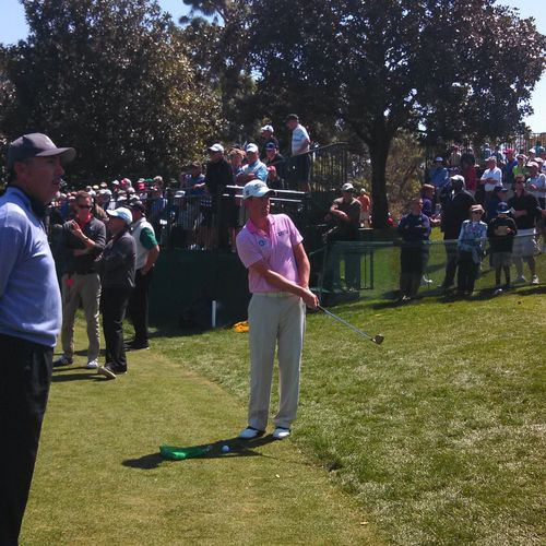 Steve keeps a close eye on US Open Champion Webb Simpson