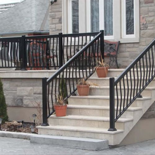 Aluminum Railings are available in standard or custom styles.