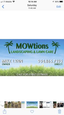 Avatar for MOWtions Landscaping & Lawn care Pompano Beach, FL Thumbtack