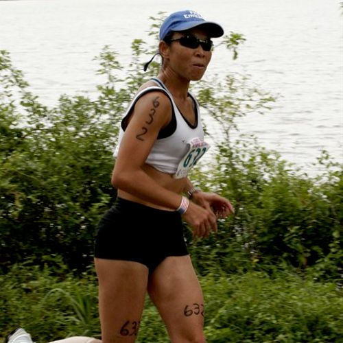 In a local triathlon race. Running could be an excellent training tool if done right.  We can learn together.