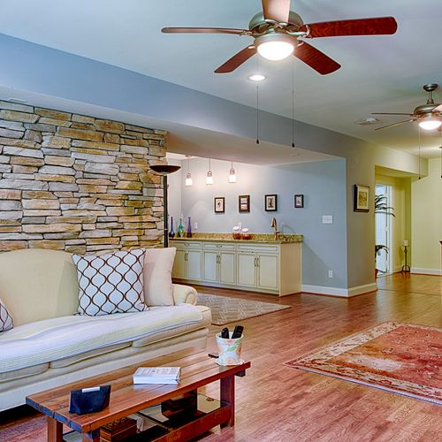 """This is the """"AFTER"""" picture of the basement remodel we did in Stonehouse, Toano Virginia"""