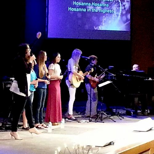 Leading worship at my current church in Winter Springs.
