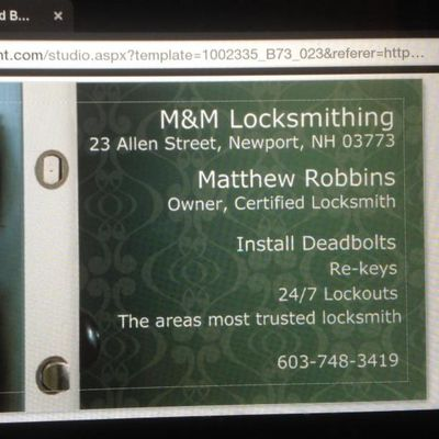 Avatar for M&M Locksmithing Newport, NH Thumbtack