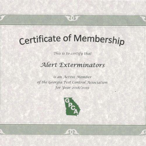 Member of Georgia Pest Control Association