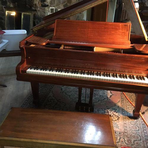 Restored Stieff grand piano