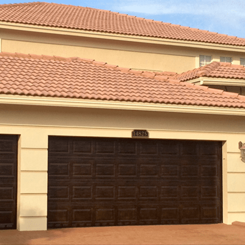 Traditional Single and Double Car Garage Doors.