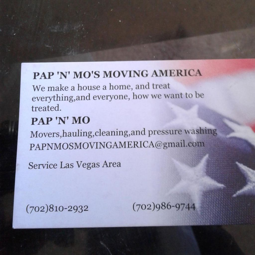 PAP 'N' MO's MOVING AMERICA