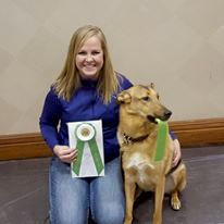 Raven topped off our Trip to Novi this year by finishing her AKC Rally Excellent title.