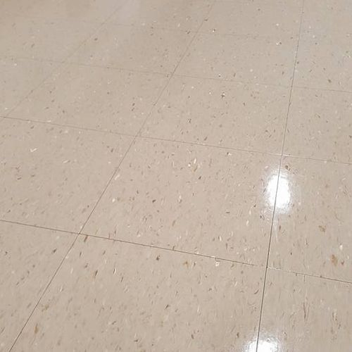 Close up of finished gym floor