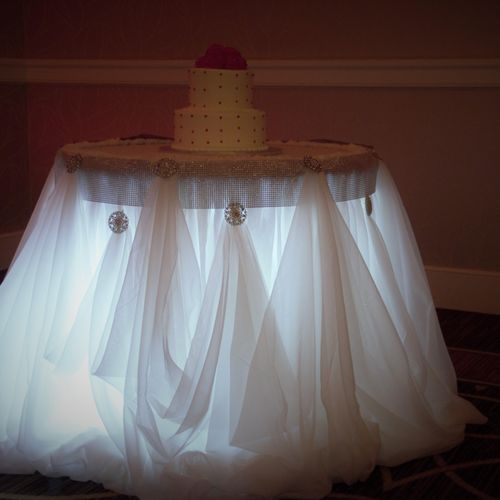 55th Anniversary Cake Table