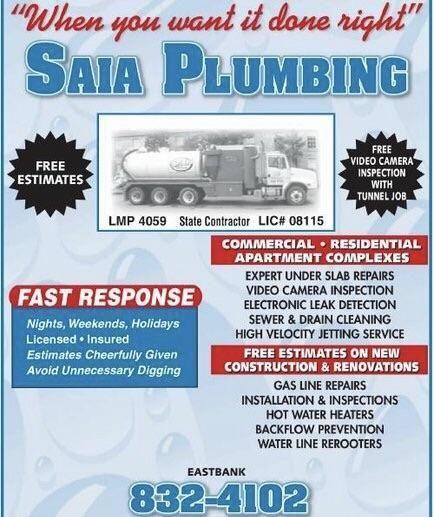 Saia Plumbing Inc