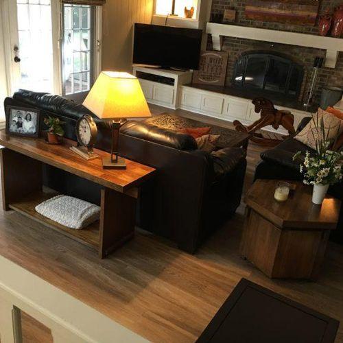 Wood-look flooring is durable AND beautiful