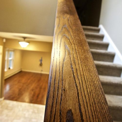 Rosewood stain, oil based finish