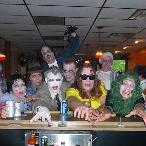 Face Painters for The Lake Orion Zombie Walk.