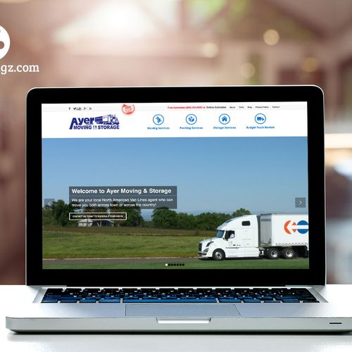 Responsive Website Design for Ayer Moving and Storage in Ayer, MA