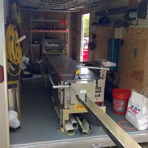 """Fully """"outfitted"""" gutter trailer"""
