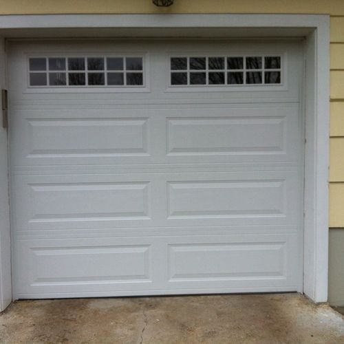 """Ranch panel , stockton inserts 2"""" thick steel door , polyutherene filled R value 18.40 , New Canaan CT"""