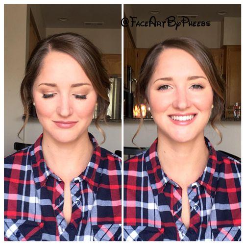 Very natural makeup with airbrush & individual lashes