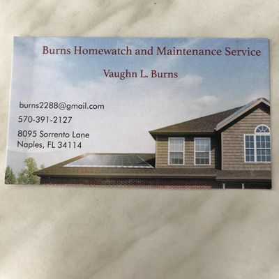 Avatar for Burns Home Watch and Maintenance Service Naples, FL Thumbtack