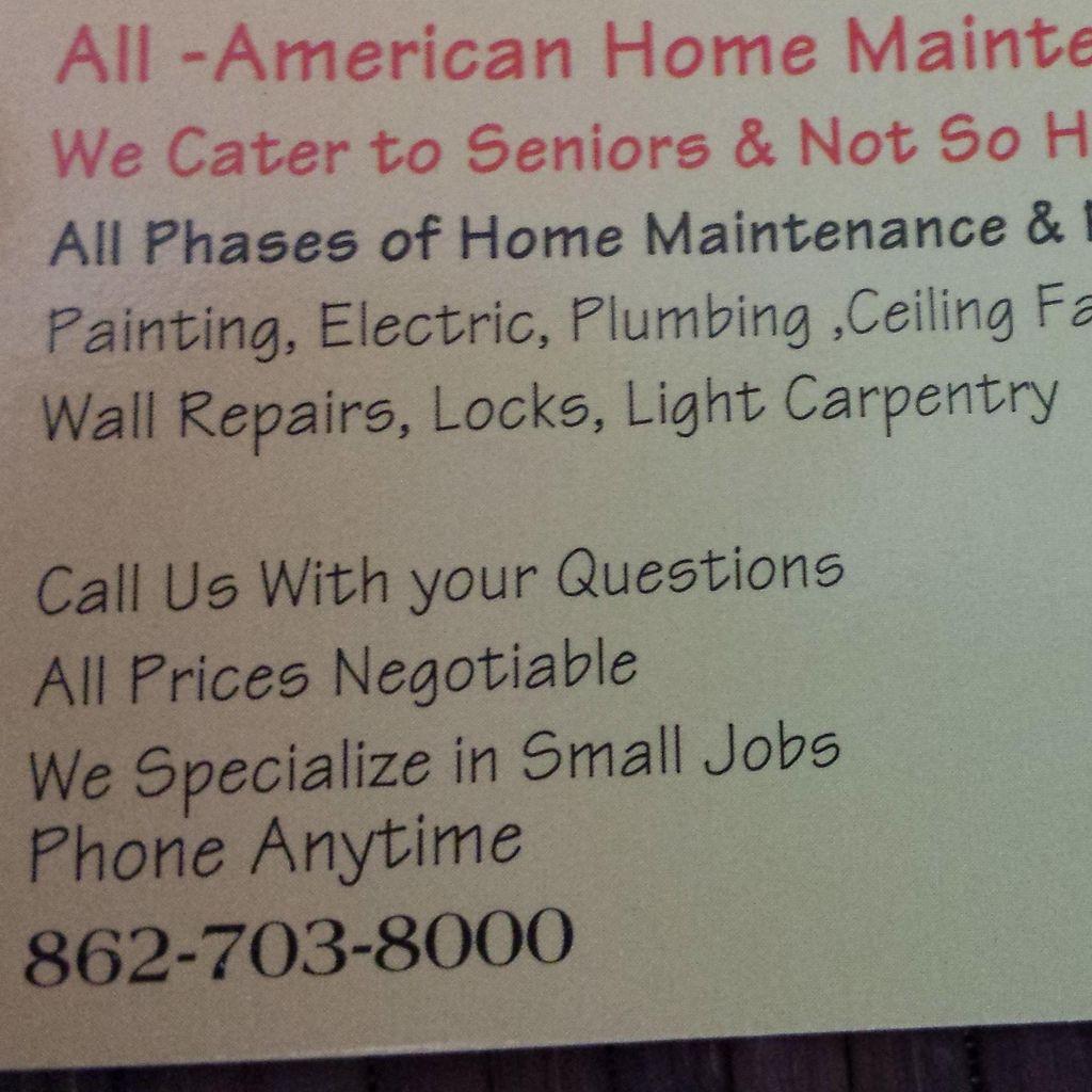 All-American Home Maintenance and Repairs LLC