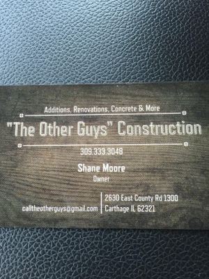 Avatar for The Other Guys Construction Macomb, IL Thumbtack