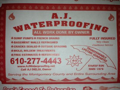Avatar for A.J. Waterproofing Collegeville, PA Thumbtack